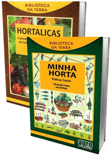 Livros Hortaliças Calendário de plantio e Minha horta práticas gerais