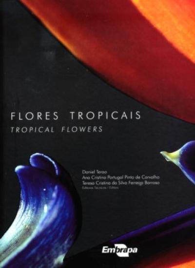Livro Flores Tropicais / Tropical Flowers, orquídeas