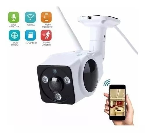 camera wifi externa ip 360 a prova d'agua acesso remoto sem fio