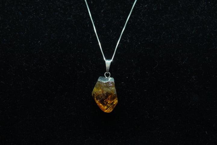 Pingente de Pedra Citrino 2 cm