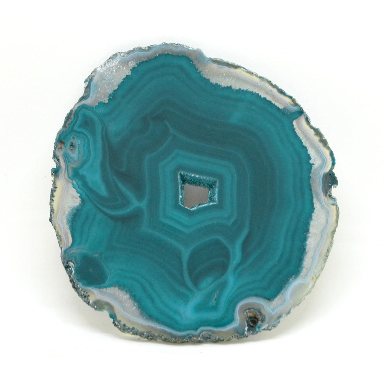 Chapa de Pedra Ágata Verde 12 a 13 cm
