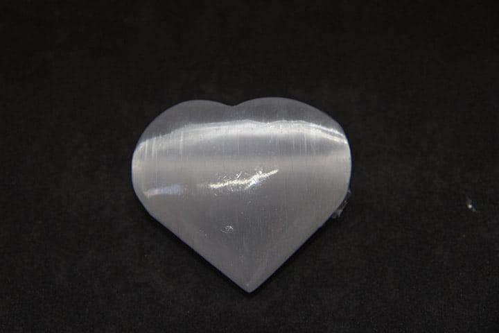 Coração de Selenita Branca
