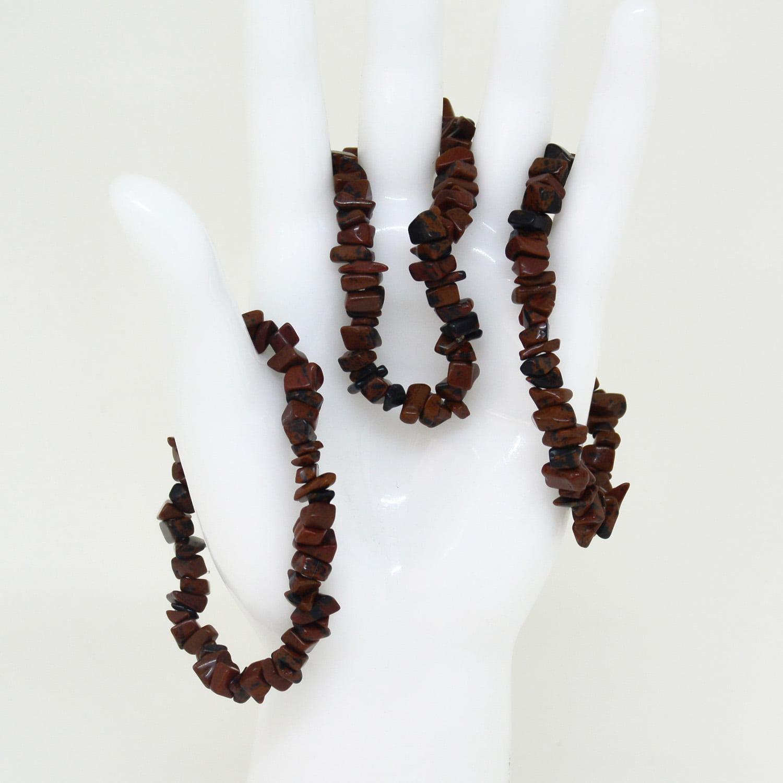 Pulseira de Pedra Obsidiana Tigril - Helena Cristais