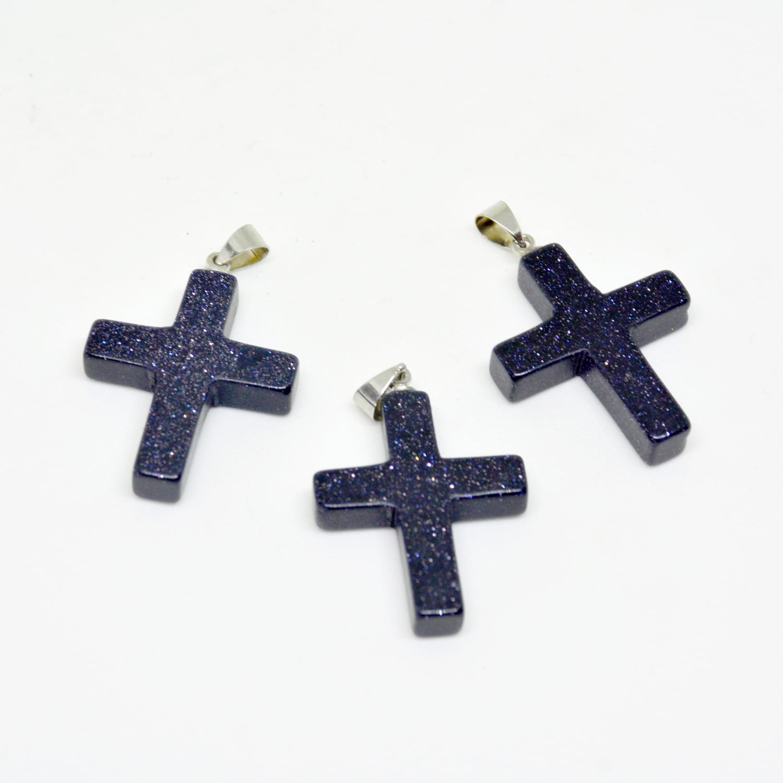 Pingente Crucifixo Pedra Estrela