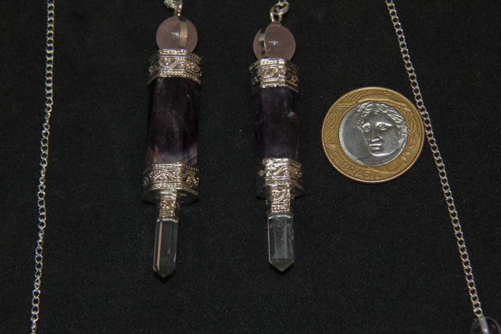 Pêndulo de Pedra Ametista