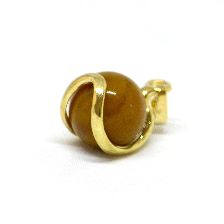 Pingente Esfera de Jaspe Amarelo Dourado