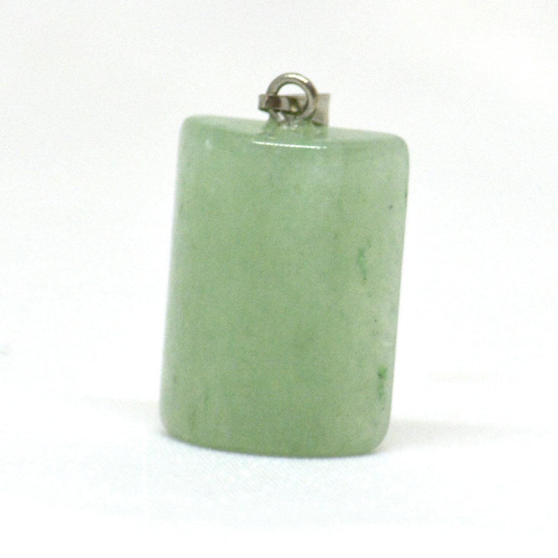 Pingente de Pedra Quartzo Verde Cilindro