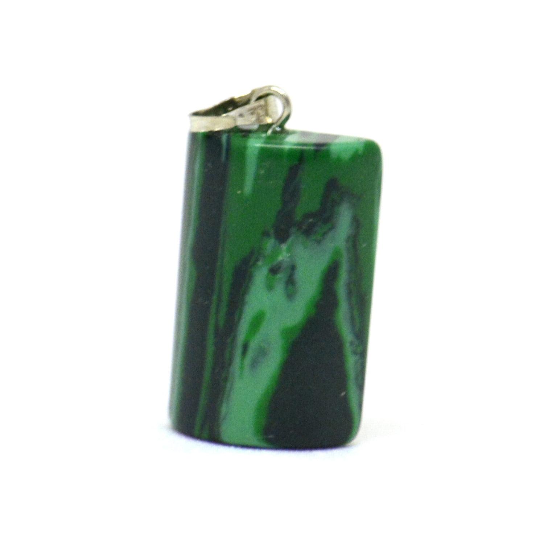 Pingente de Pedra Malaquita Cilindro - Helena Cristais