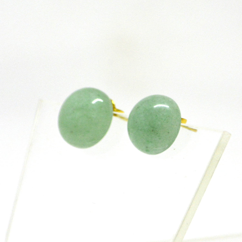 Brinco de Pedra Quartzo Verde Joaninha - Helena Cristais