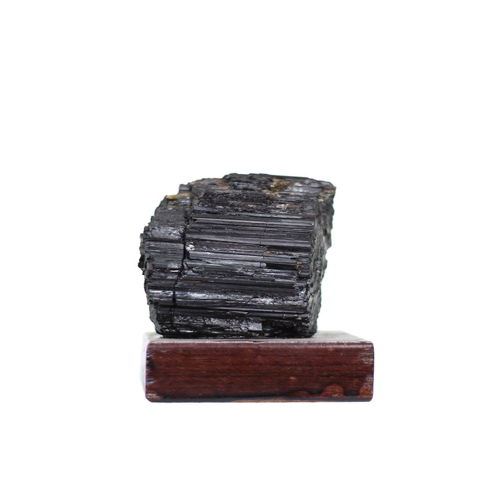 Pedra Turmalina Negra Bruta com Base 365g