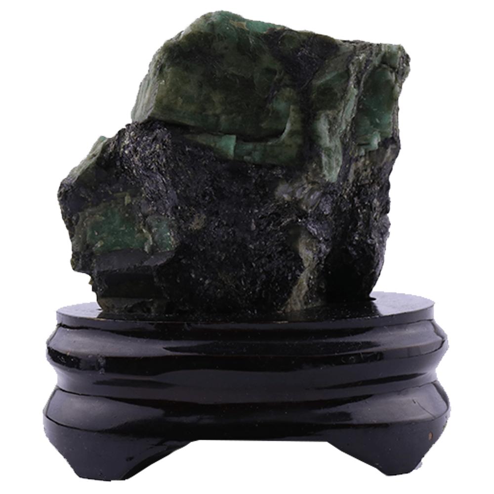 Pedra Esmeralda Bruta com Base 386g