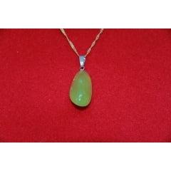 Pingente de Pedra Jade Rolada