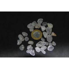 Pacote de Pedra Quartzo Rosa Rolada 50g - Helena Cristais