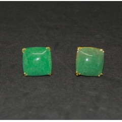 Anel Quartzo Verde Quadrado Regulável
