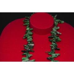 Colar de Pedra Rubi com Zoisita Fileto - Helena Cristais