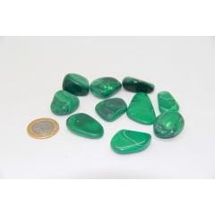 Pedra Malaquita Rolada - Helena Cristais