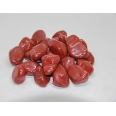 Pacote de Pedra Jaspe Vermelho 1Kg 1 a 5 cm