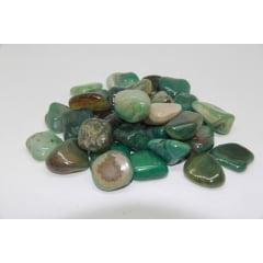 Pacote de Pedra Ágata Verde 1Kg