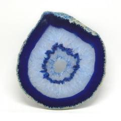 Chapa de Pedra Ágata Azul 13 a 14 cm