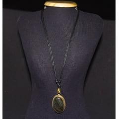 Colar de Pedra Labradorita - Helena Cristais