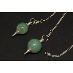 Pendulo Esfera de Pedra Quartzo Verde - Helena Cristais