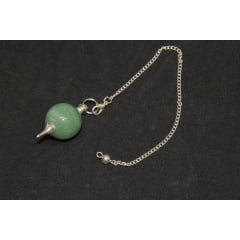 Pendulo Esfera de Pedra Quartzo Verde