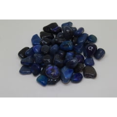 Pacote de Pedra Ágata Azul 1Kg - Helena Cristais