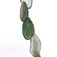 Móbile de Pedra Ágata Verde Médio