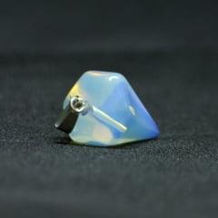 Pingente Opalina Pedra da Lua Hexagonal Prateado – 5984