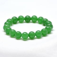 Pulseira Esfera de Pedra Ágata Verde