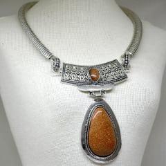 Colar de Pedra do Sol-6044