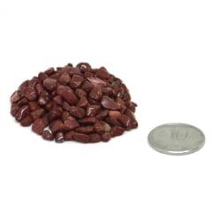 Pacote de Pedra Jaspe Vermelho Cascalho 500 g