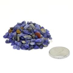 Pacote de Pedra Sodalita Cascalho 1 Kg