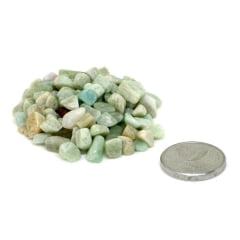 Pacote de Pedra Amazonita Cascalho 100g - Helena Cristais