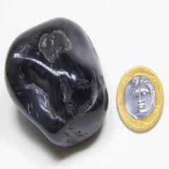 Pedra Ônix Preto Rolada 2,5×3,5cm