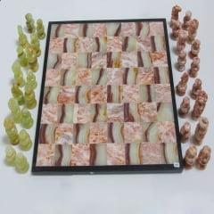 Jogo de Xadrez em Pedra