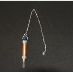 Pêndulo de Sodalita e Cobre com Cristal