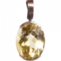 Pingente de Prata Green Gold