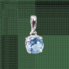 Pingente de Prata Topázio Azul