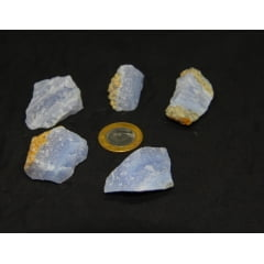 Pedra Calcedônia Bruta - Helena Cristais