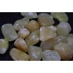 Pedra Calcita Amarela Rolada