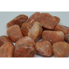 Pedra Calcita Laranja Rolada