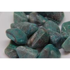 Pedra Crisocola Rolada 3x5cm
