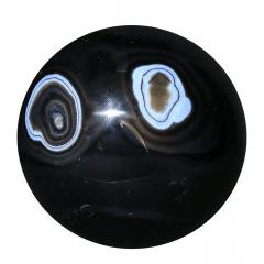 Agata Negra em Esfera 467g