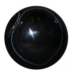 Agata Negra em Esfera 469g