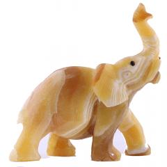 Elefante de Pedra Calcita Mel 1,594 kg