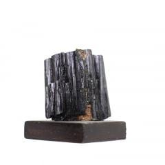 Pedra Turmalina Negra Bruta com Base 340g