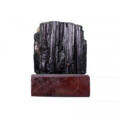 Pedra Turmalina Negra Bruta com Base 375g