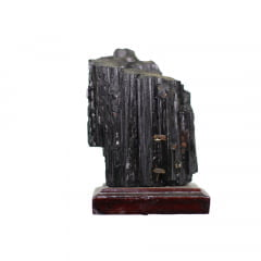 Pedra Turmalina Negra Bruta com Base 386g