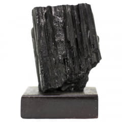 Pedra Turmalina Negra Bruta com Base 628g